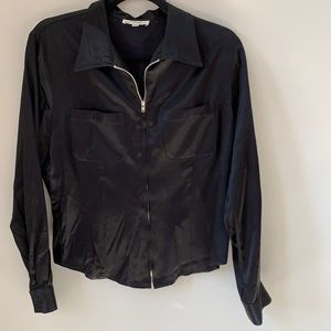 Harlow Vintage 90's Black Zipper Shirt